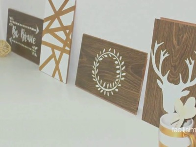 Cómo hacer cuadros decorativos con madera | facilisimo.com