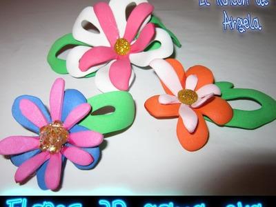 DIY Como hacer flores de goma eva en 3D