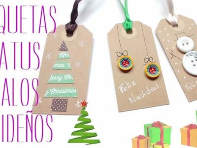 Etiquetas navideñas. Regalos de Navidad. Christmas gift tags.