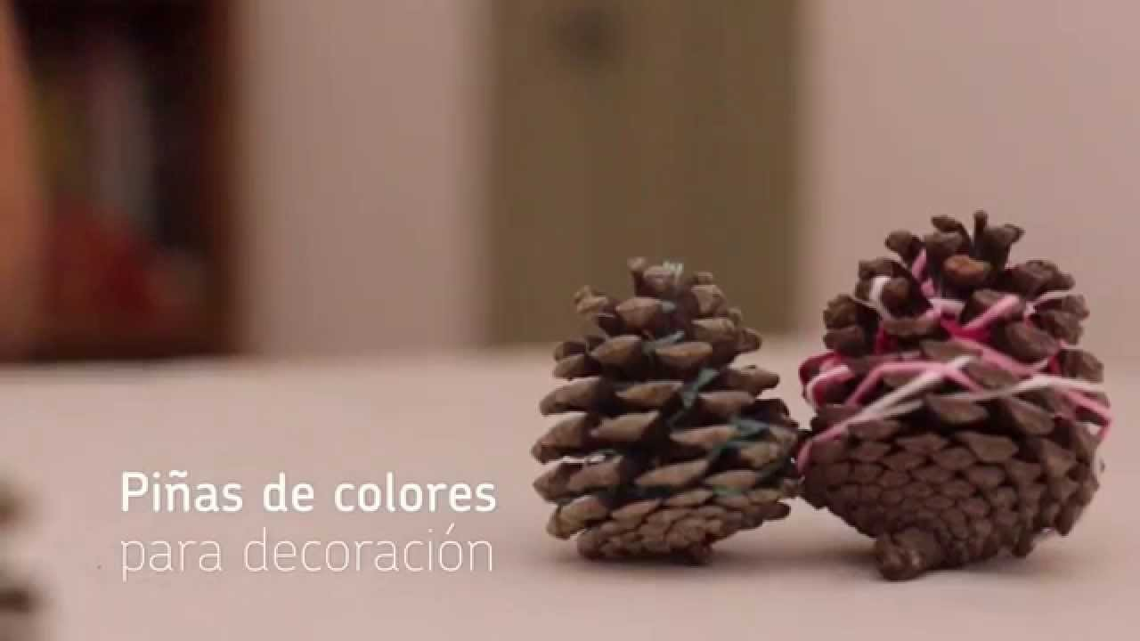Piñas de colores para decoración