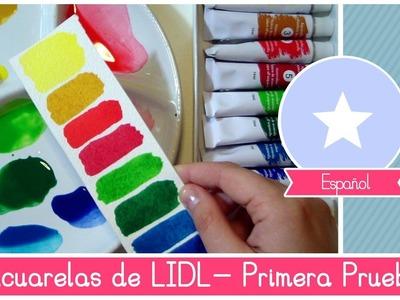 Acuarelas BARATAS de LIDL : Primera prueba e impresiones by Fantasvale