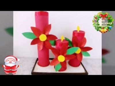 Centro de mesa con velas de foami (manualidad económica)