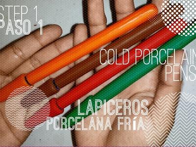 Cold Porcelain Pens: Step 1. Lapiceros de Porcelana Fría: Paso 1