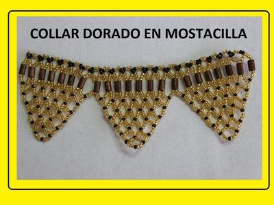 COLLAR DORADO EN MOSTACILLA