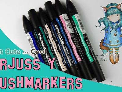 Coloreando con rotuladores 1: Brushmarkers y Gorjuss