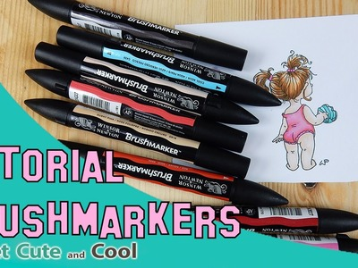 Coloreando con rotuladores de alcohol: BrushMarkers de Winsor and Newton