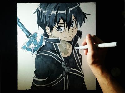 Cómo dibujar a Kirito (Sword Art Online) paso a paso | How to draw Kirito