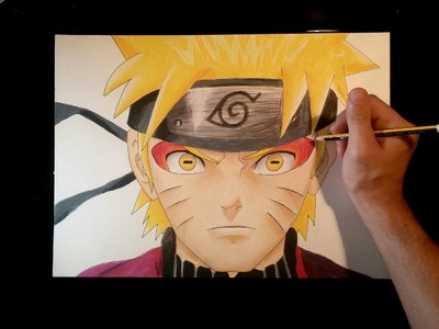 Cómo dibujar a Naruto modo Sabio.Ermitaño con lápices de colores | How to draw Naruto sage Mode