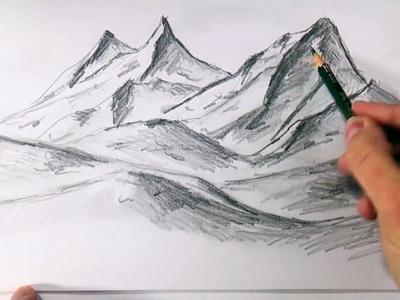 Como Dibujar Montañas Realistas a Lapiz Faciles y Paso a Paso