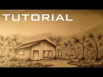 Cómo dibujar un paisaje a lápiz paso a paso, aprender a dibujar paisajes