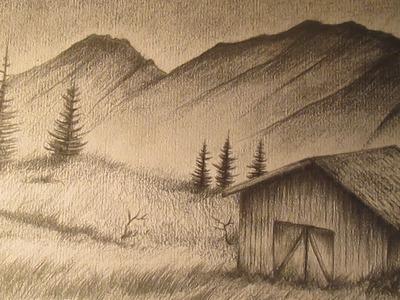 Cómo dibujar un paisaje realista a lápiz paso a paso