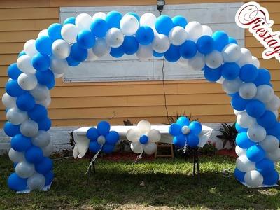 Como hacer un Arco en espiral  de dos colores con globos
