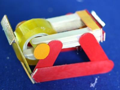 Como hacer un dispensador de cinta ● utilizando palitos de helado