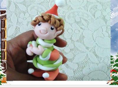 Como hacer un duende arlequín navideño de azúcar