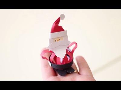Cómo hacer un Papá Noel con cartulina | facilisimo.com