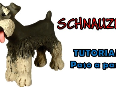 Como hacer un Perro Schnauzer de Plastilina. How to make a schnauzer dog with clay
