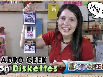 Cómo hacer un portaretrato con Diskettes