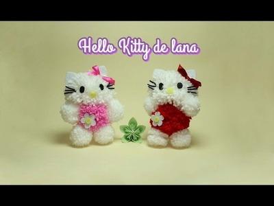 Como hacer una Hello Kitty de lana