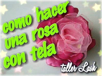 Como hacer una rosa de Tela.