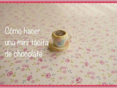 Cómo hacer una tacita de chocolate