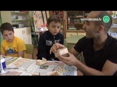El rey del reciclaje Cómo hacer una caja con pinzas