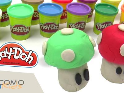 Hacer las setas de Mario Bros con Play-Doh