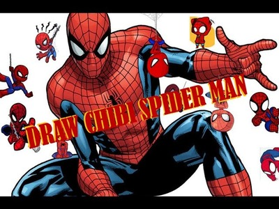 How to draw Spider Man Chibi