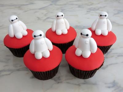 How to make Baymax cupcakes.Cómo hacer cupcakes de Baymax