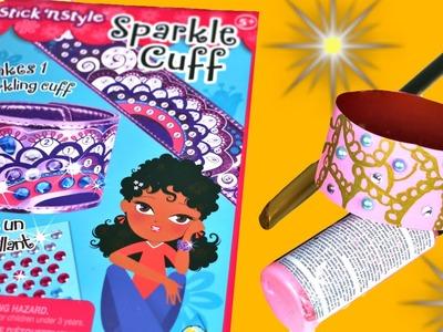 Juguete Sparkle Cuff. Revisión y copia.Brazaletes con botellas recicladas