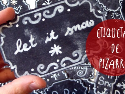 Manualidad facil, rapida y barata: ETIQUETAS DE PIZARRA para regalitos de Navidad by ART Tv