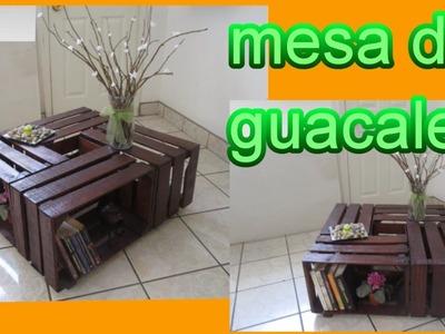 MESA DE CENTRO *DIY* (RECICLAJE DE GUACALES)