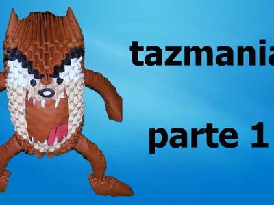 ORIGAMI 3D TAZMANIA PARTE 1