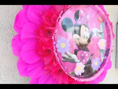 Piñata de tambor enforma de flor