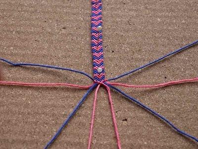 Pulsera de corazones con relleno - Pulsera San Valentín (nivel intermedio) - Hearts macrame bracelet