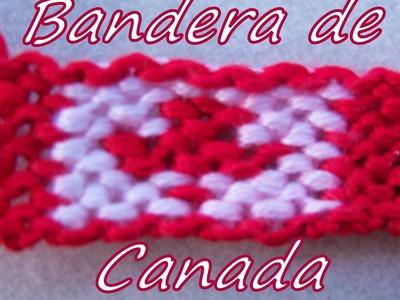Pulsera de Hilo:Bandera de Canada