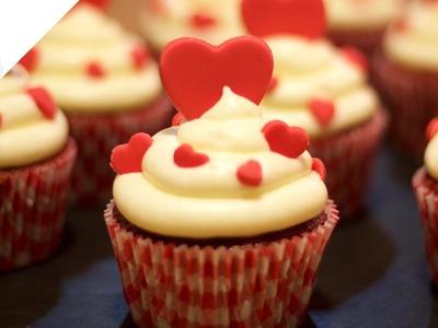 Red Velvet Cupcakes para San Valentín, el día de los enamorados
