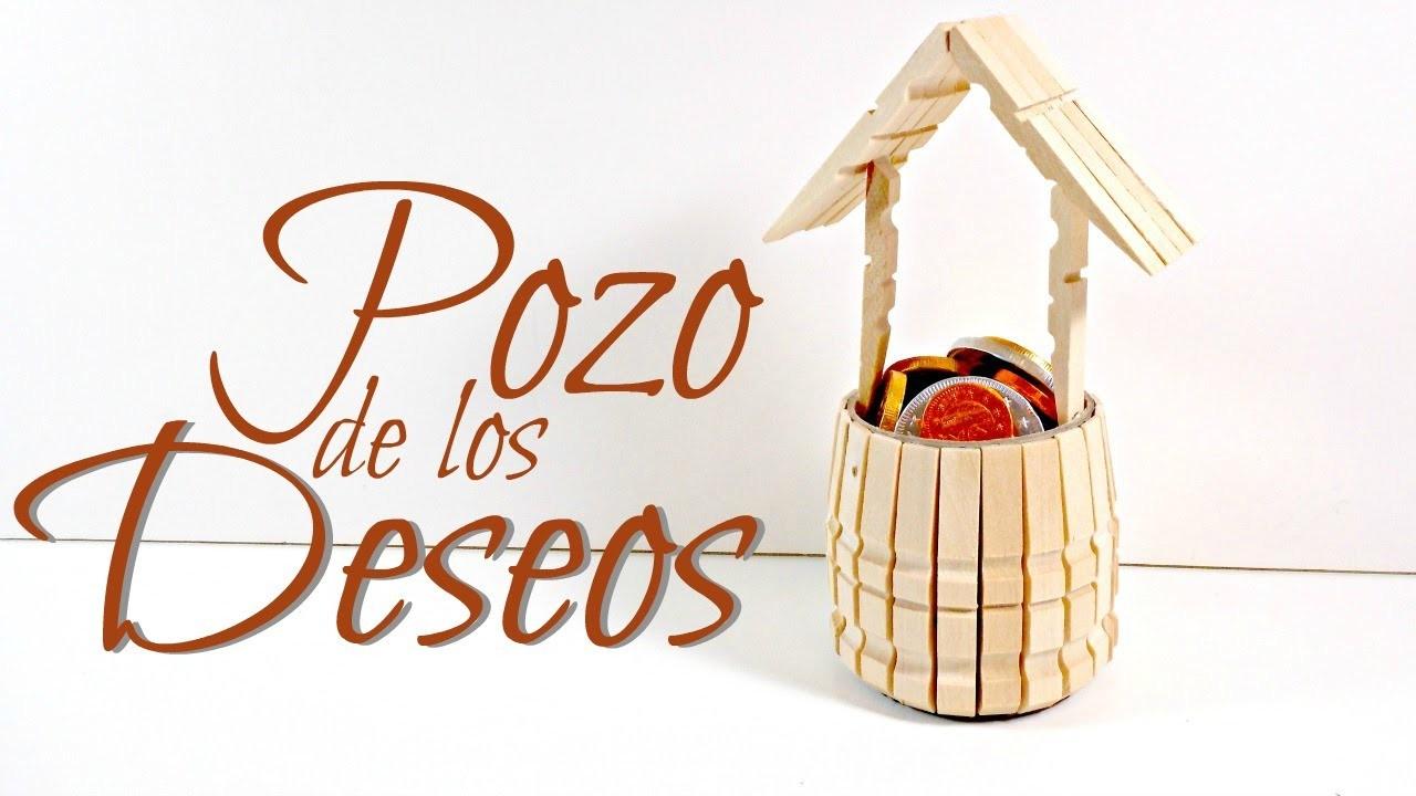 Tutorial pozo con pinzas de madera reciclaje mundo party - Reciclaje de la madera ...