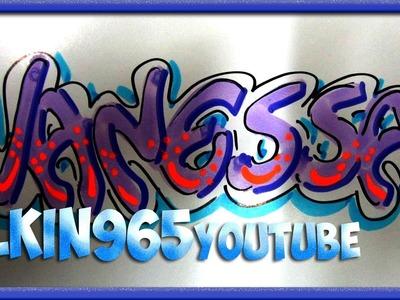 Vanessa. letra artística para tarjetas - petición de suscriptor 048