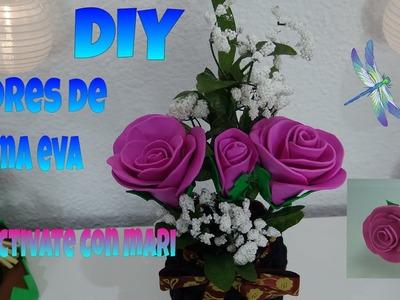 Cómo hacer flores de goma eva o foamy ¡Regala rosas eternas!