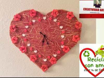 Reloj de pared para san Valentín