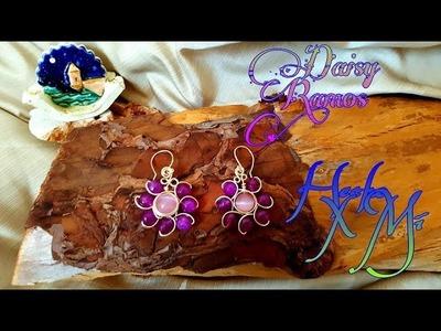 Zarcillos Alambrismo DIY, Wire Wrapped Earrings