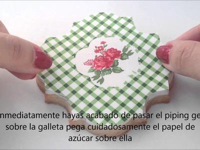 Cómo decorar galletas con papel de azúcar {Tutorial}