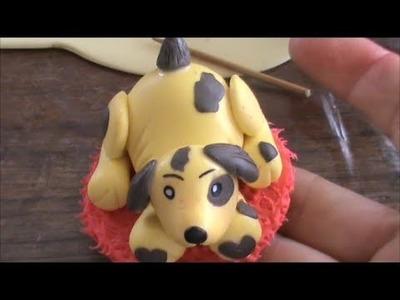Como Hacer un Perrito en Porcelana Fria