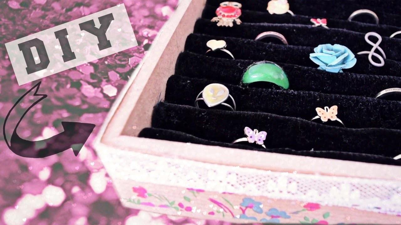 DIY: Organizador de anillos FÁCIL Y BONITO.♥