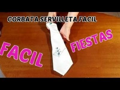 Doblar servilletas para fiestas en forma de CORBATA (SUPER FACIL)