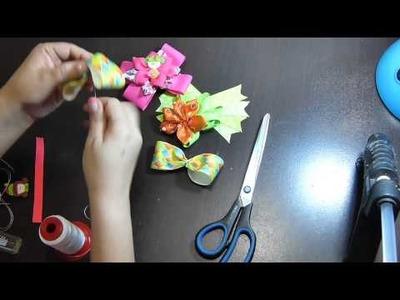 Moños  Multicolor  infantiles. flores fáciles de elaborar .Hair Accessories
