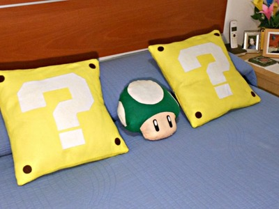 Personaliza tus cojines con estas originales fundas | Interrogante Mario Bros | Mundo@Party