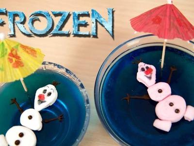 Postre Gelatina Olaf de Frozen y Su Novia Ola