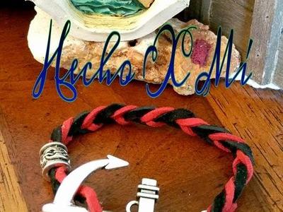 Pulsera de Cuero y Ancla fácil de hacer! Anchor & Leather Bracelet, DIY