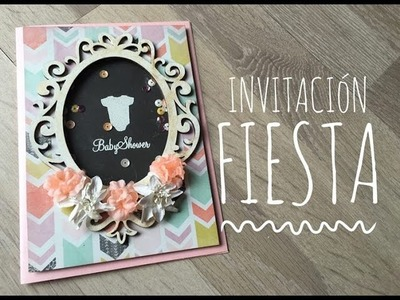 TUTORIAL Invitación Baby Shower Shaker Card.Invitation